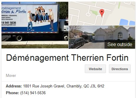 Demenagement Therrien Fortin – Location