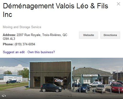 Demenagement Valois Leo & Fils – Location