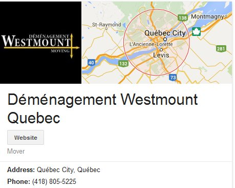 Demenagement Westmount – Location