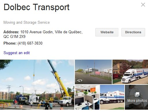 Dolbec Transport - Location