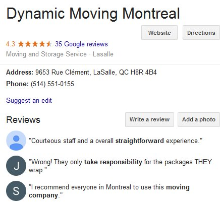 Dynamic Moving – Location and reviews