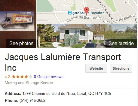 Jacques Lalumiere Transport - Location
