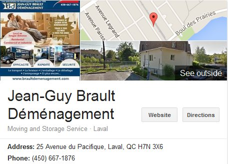 Jean Guy Brault Demenagement – Location