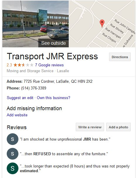 JMR Express – Location and Moving reviews