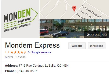 Mondem Express - Location
