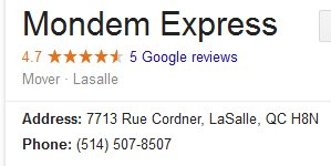 Mondem Express – Location