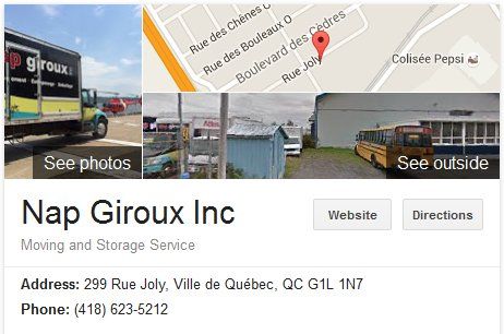 Nap Giroux Inc. – Location