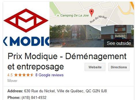 Prix Modique – Location