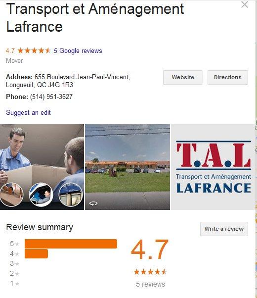 Transport et Amenagement Lafrance – Location