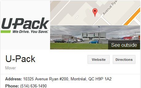 U-Pack Moving – Location