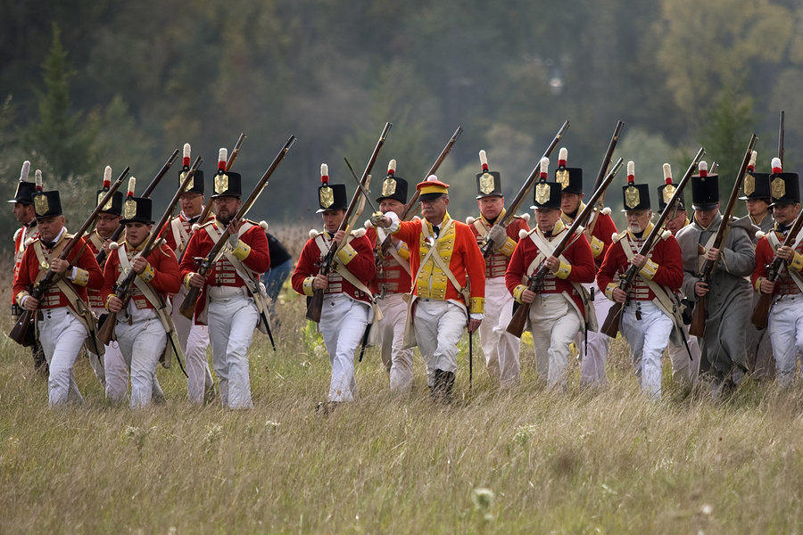 Battle of 1812 Re-enactment in Fanshawe Conservation Area in London, Ontario