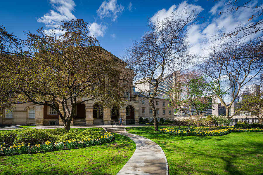 Gardens and Osgoode Hall in Downtown Toronto is just one of many beautiful parks