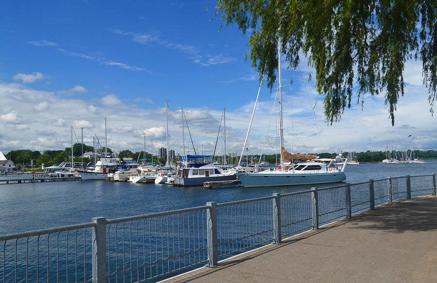 Hamilton's Yacht Harbour on a beautiful day in summer