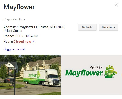 Mayflower Transit – Parent Company Location