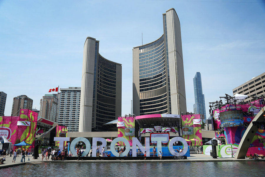Nathan Philips Square in Downtown Toronto