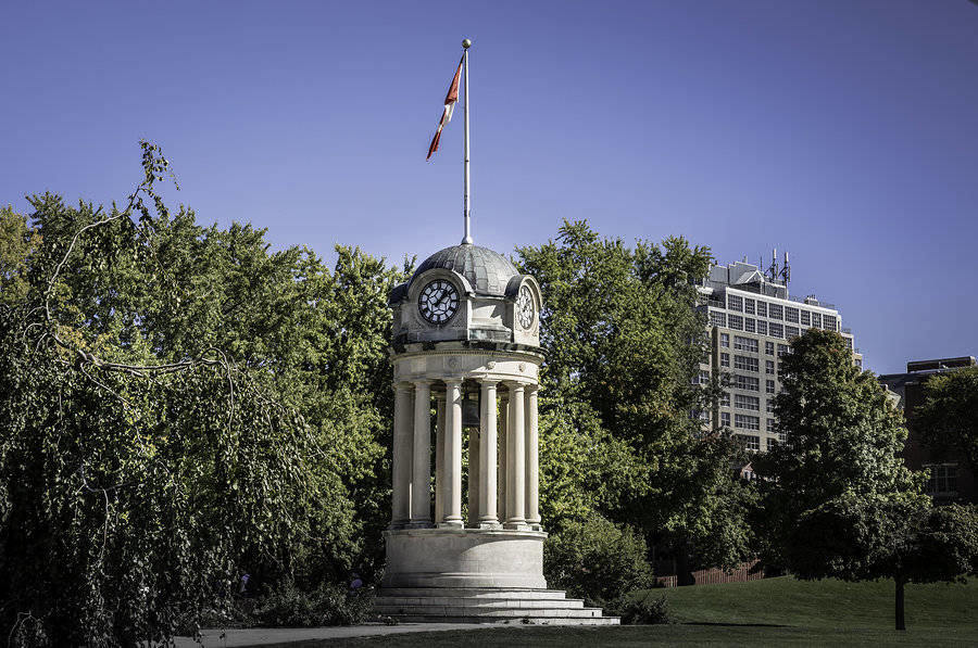Old Clock Tower in Kitchener – in downtown Victoria Park