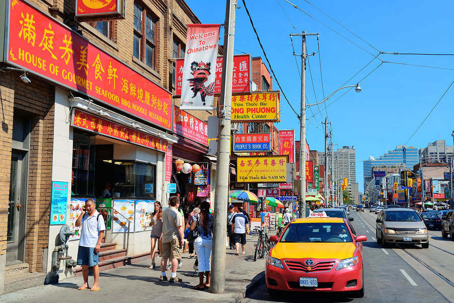 The Chinatown in Toronto is the largest in North America