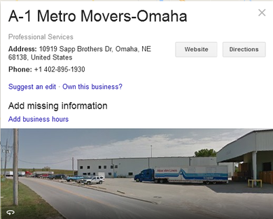 A1 Metro Movers - Location