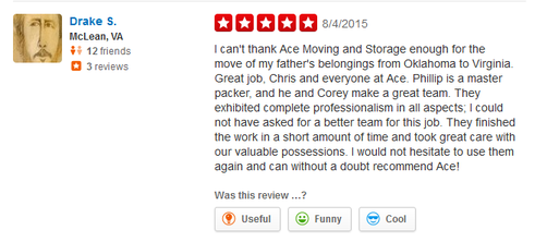 Ace Moving and Storage – Moving review