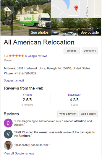 All American Relocation – Location