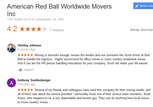 American Red Ball Worldwide Movers – Moving reviews