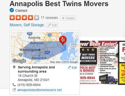 Annapolis Best Twin Movers - Location