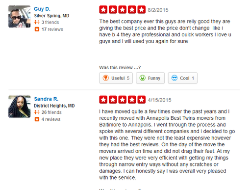 Annapolis Best Twin Movers – Moving reviews