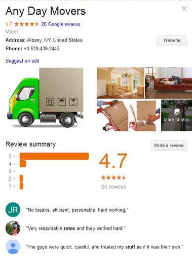 Any Day Movers – Location