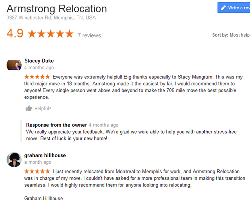 Armstrong Relocation – Moving reviews