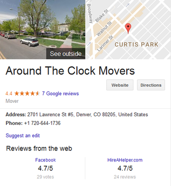 Around the Clock Movers – Location