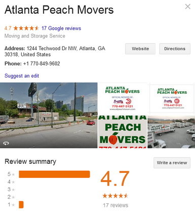 Atlanta Peach Movers - Location