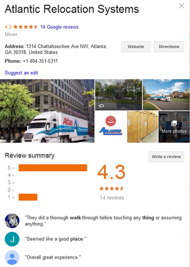 Atlantic Relocation Systems – Location and reviews
