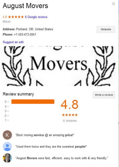 August Movers – Location and reviews