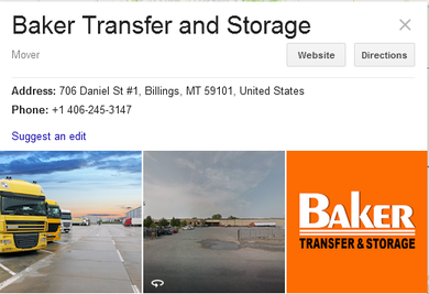 Baker Transfer and Storage - Location