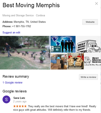 Best Moving Memphis – Location