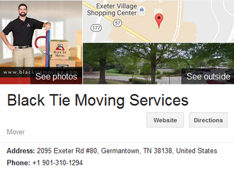Black Tie Moving Services – Location