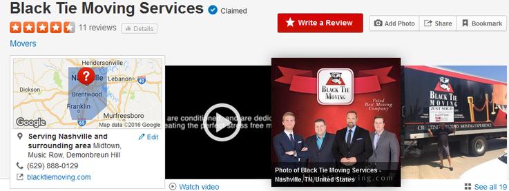 Black Tie Moving Services – Location