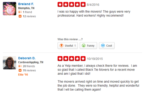 Black Tie Moving Services – Moving reviews