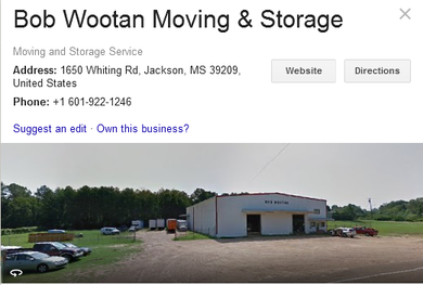 Bob Wootan Moving and Storage – Location