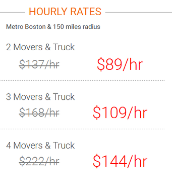 Boston Best Rate Movers - Local moving rates
