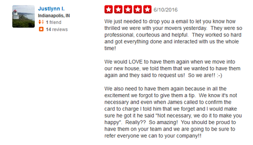 Busy Bee Movers – Moving reviews