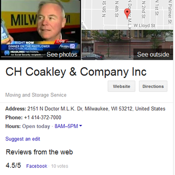C.H. Coakley and Company – Location