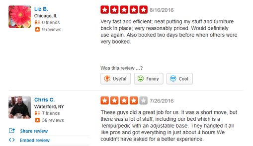 Capital Movers – Moving reviews