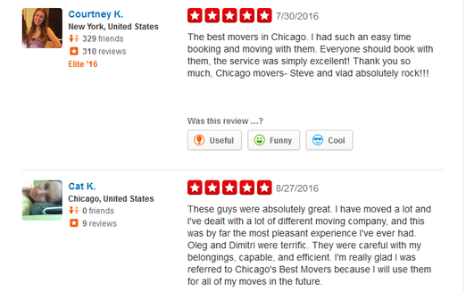 Chicago Movers – Moving review
