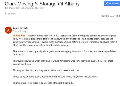 Clark Moving and Storage – Moving review