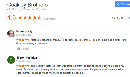 Coakley Brothers – Moving reviews