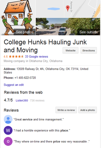 College Hunks Hauling Junk and Moving – Location