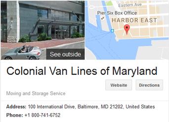 Colonial Van Lines – Location