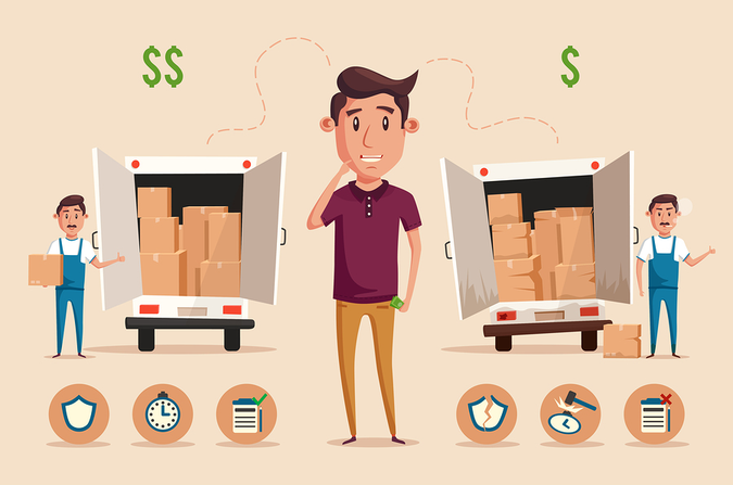 Consider price, reputation, customer service, and quality when choosing your moving company