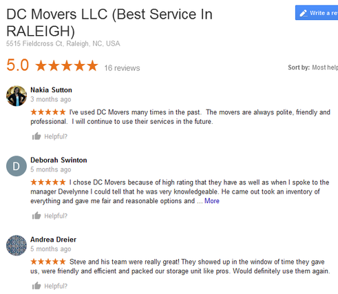 DC Movers LLC - Moving reviews